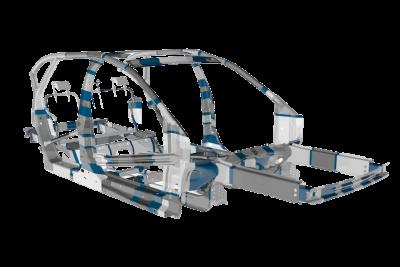 Mubea bietet Leichtbaukomponenten mit beanspruchungs- und funktionsoptimierter Blechdickenverteilung.