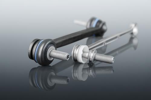 Leichbaukoppelstangen aus Stahl, glasfaserverstärktem Kunststoff und Hybridtechnologie.